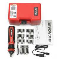 DEVON® 46 In 1 Multifunctional Electric Screwdriver Set Household Rechargeable Screwdriver
