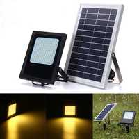 120 LED Solar Power Flood Light Sensor Outdoor Garden Lamp Waterproof Warm White