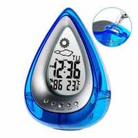 Loskii LT-130 Water Power Digital Alarm Clock Home Confort Eco-Friendly Hydrodynamic Thermometers Weather Station