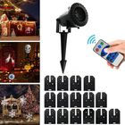 Offres Flash 15 Patterns 6W LED Remote Control Projector Stage Light Outdoor Christmas Halloween Decor AC100-240V