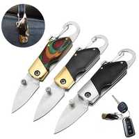 LAOTIE 6.8cm Outdoor Survival Camping Fishing Folding Knife Multifunction Knife Keychain Tools Small Mode