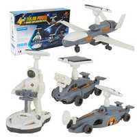 Cute Sunlight STEM 4In1 Solar Powered Toy Space Exploration Fleet Gift Toys