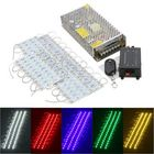 Most Popular 50PCS 5 Colors SMD5050 LED Module Store Strip Light Front Window Lamp + Power Supply + Remote DC12V