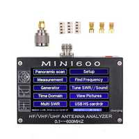 MINI600 5V/1.5A HF VHF UHF Antenna Analyzer 0.1-600MHZ Frequency Counter SWR Meter 0.1-1999 with 4.3