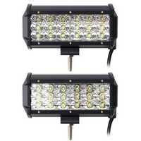 7 Inch 54W 5490LM LED Work Light Bars Flood/Spot Beam for Truck Off Road Car DC 9-30V