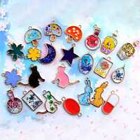 Resin Glue DIY Jewelry Accessories Star Cat Bottle Flower RounD-shape Design
