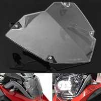 Front Headlight Guard Clear Cover Lens Protector For BMW R1200GS ADV WC 13-17