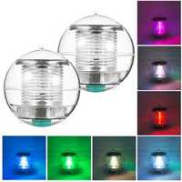 Solar Powered Colorful Water Floating Ball Lamp LED Outdoor Underwater Light for Yard Pond Garden Pool Decoration Light