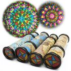 Flash Offers 20/30cm Blue Yellow Magical Rotate Kaleidoscope Toy Extended Rotation Fancy Colored World Kids Toy