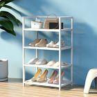 Meilleurs prix Classics Shoe Rack 4-Tier Resin Slat Utility Shoe Racks Organiers Home Supplies Storage Shelf For Home Office