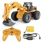 Meilleurs prix HuiNa Toys 1530 1/18 2.4G 6CH Rc Car Alloy Excavator Engineering Vehicle W/ Light Sound Model