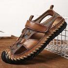 Meilleurs prix Men Casual Breathable Mesh Soft Bottom Hand-stitched Sandals