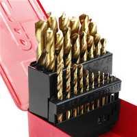 38pcs 1-13mm HSS Twist Drill Bit Titanium Coated Twist Drill