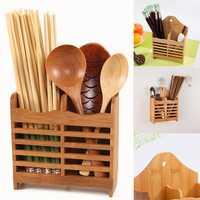 Bamboo Cutlery Storage Holder Spoon Chopsticks Kitchen Organizer Drying Rack Kitchen Storage Rack