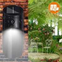 Garden LED Sensor Solar Panel Motion Wall Lamp Auto Control Waterproof Patio Lighting