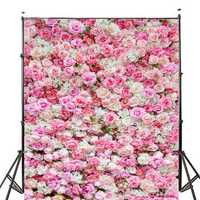 5x7FT Wedding Rose Flowers Photography Backdrop Studio Prop Background