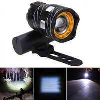 XANES ZL01 800LM T6 Bicycle Light Three Modes Zoomable Night Riding USB Rechargeable Waterproof