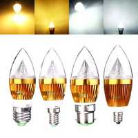 E12 E14 E27 B22 Dimmable 3W LED Chandelier Candle Light Bulb 220V