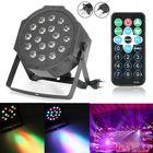 Meilleurs prix 18W RGB LED Stage Light DMX Par CAN DJ Disco Uplighter Strobe Lighting