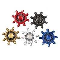 MATEMINCO 3 min Rotating Zinc Alloy Hand Spinner Rudder Hexagonal Fingertip Gyro