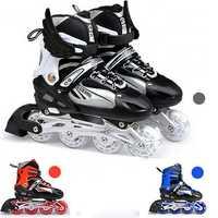 Unisex Adjustable Four Flashing Wheels Skates Shoes Wear-resisting Rollerblade Skate Shoes