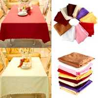 160cm Polyester Absorbent Square Tablecloth For Hotel Restaurant Wedding Decor