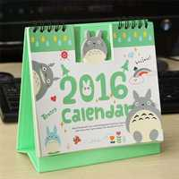 Cartoon 2016 Calendar Cute Mini Paper Office Desktop Planner Monthly Desk Pad Calendar