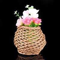 Mini Vine Rotin Rattan Vase Zakkz Flower Bottle Ornaments Flower Arrangement Home Decor