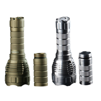 1Pcs Sand Silver Color Convoy L2 DIY 18650/26650 Extension Tube Flashlight Body Host Without LED & Driver