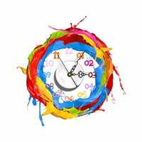 PAG STICKER 3D Wall Clock Decals Oil Painting Pigment Wall Sticker Home Wall Decor Gift