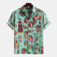 Palace Characters Print Short Sleeve Shirts