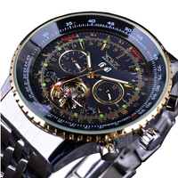 JARAGAR F120506 Fashion Automatic Mechanical Watch Stainless Steel Strap Men Wrist Watch