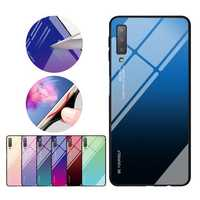 Bakeey Gradient Tempered Glass Protective Case For Samsung Galaxy A7 2018 Scratch Resistant Back Cover