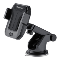 Quelima QI Infrared Sensor Car Wireless Fast Charger Phone Holder 360° Rotatable Dashboard Bracket for iPhone XS XR X