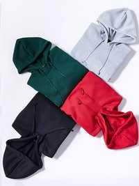 S-5XL Casual Women Hooded Fleece Short Sweatshirts
