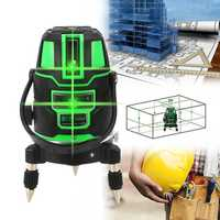 Green Laser Level 2Line 3Line 5Line Cross Lines Self-Leveling 360° Rotary Measure Tool