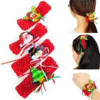 Cute Women Christmas Elastic Headbrands Xmas Hair Accessories Party Decoration