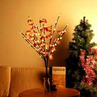 Battery Supply 20LED Bendable Phalaenopsis Flower Branch Tree String Light Christmas Party Decor