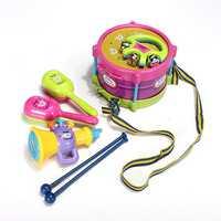 5pcs Baby Roll Drum Musical Instruments Kids Drum Set Children Toy