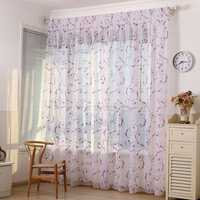 Honana Home Decoration Curtains Window Sheer Drapes Tulle Curtain For Living Room Bedroom