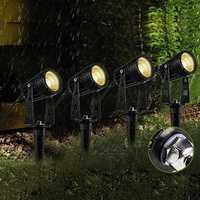 4 in 1 COB LED Outdoor Landscape Spot Flood Light AC85-265V Waterproof for Lawn Pathway