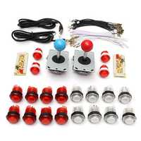 DIY Parts USB Encoder Joystick Clear Buttons Kit for Acarde Game Controller Console