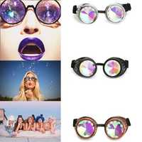 BIKIGHT Outdoor Festivals Kaleidoscope Glasses for Raves - Prism Diffraction Crystal Lenses