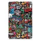 Recommandé Tri-Fold Pringting Tablet Case Cover for Samsung Galaxy Tab A 10.1 2019 T510 Tablet - Doodle