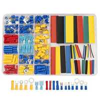 230Pcs Terminals Connectors & 328Pcs Heat Shrink Tube 2:1 Assorted Wire Kit