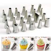Honana CF-PT02 24Pcs Flower Pastry Cake Icing Piping Nozzles Decorating Tips Cake Baking Tools