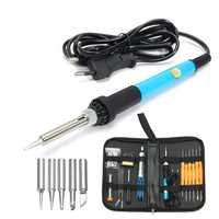 DANIU Professional 110V/220V 60W Adjustable Temperature Welding Solder Soldering Iron Tool Kit