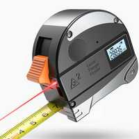 DANIU 30M Laser Rangefinder Anti-fall Steel Tape High Precision Infrared Digital Laser Distance Meter Measure Distance Tool Tape