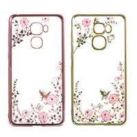 Luxury Secret Garden Flower Plating Diamond Soft TPU Silicone Case For Letv LeEco Le Pro3