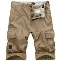 Summer Mens 30-44 Size Multi Pocket Cargo Shorts Fifth Breathable Loose Casual Shorts